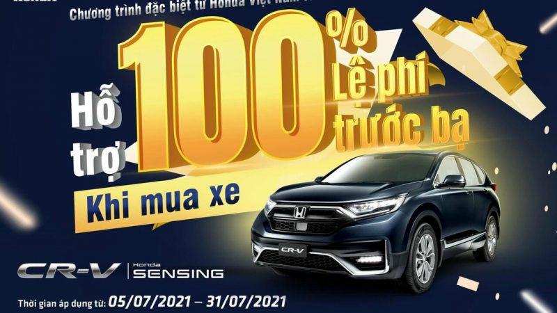 HONDA CRV SENSING 2021 GIẢM NGAY 50% THUẾ TRƯỚC BẠ TỪ NGÀY 05/09/21-30/09/21